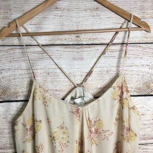 LC Lauren Conrad Tops - Lauren Conrad cream strappy floral tank